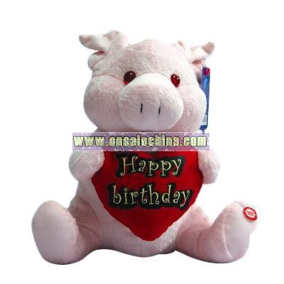 Birthday Gift Stuffed Pig