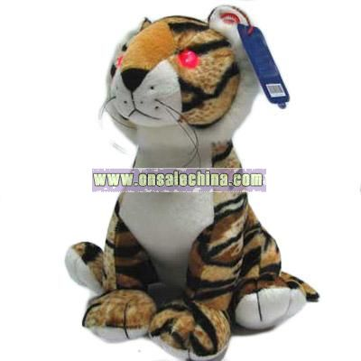 Happy Birthday Music and Flash Stuffed Tiger
