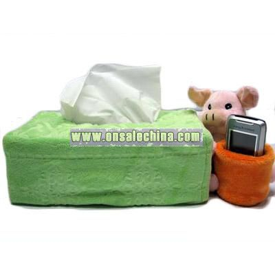Plush Tissure Case with Mobile Phone Holder