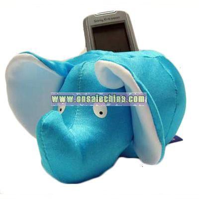 Plush Elephant Shape Mobile Phone Holder