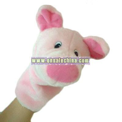 Plush animal shaped puppet