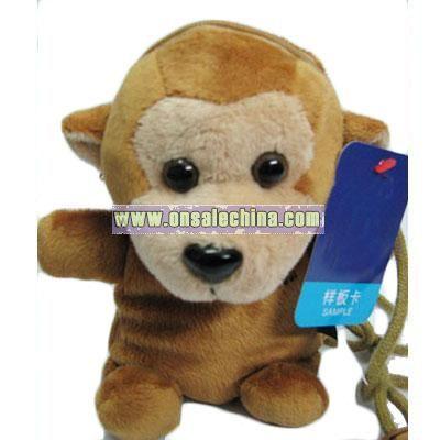 Satchel stuffed monkey