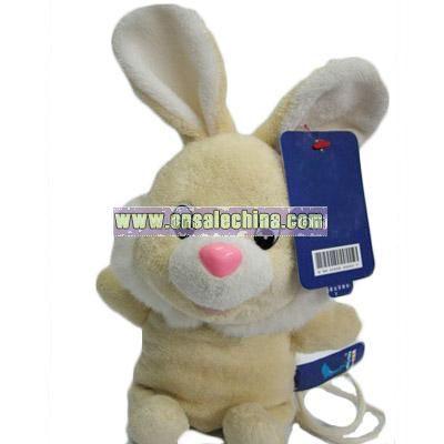 Satchel yellow stuffed rabbit