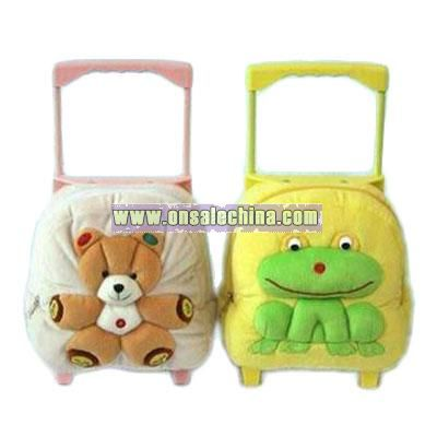 Stuffed and Plush Luggage Cart with Built-in FM Scan Radio