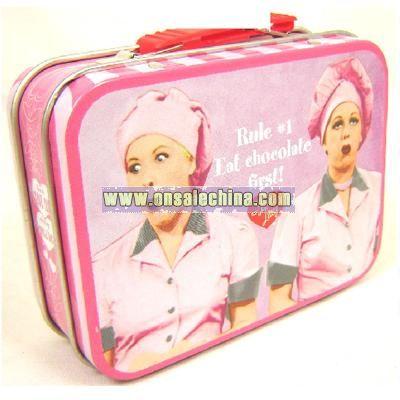 Love Lucy Eat Chocolate First Mini Tin Box Tote