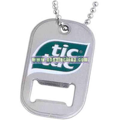Promotional Etched Stainless Steel Dog Tag