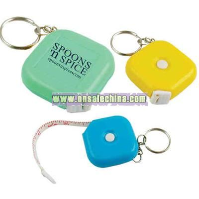 Tape measure with key chain