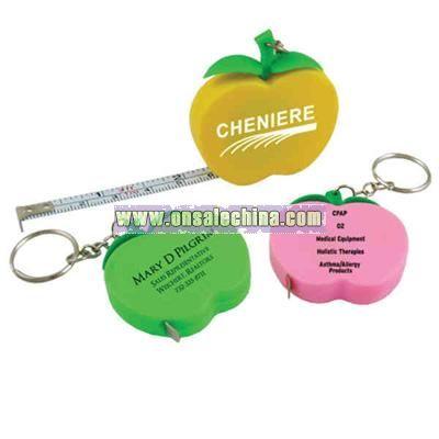 Apple shape tape measure key chain.