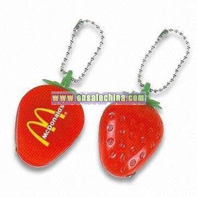 Strawberry Measuring Tape with Keyring