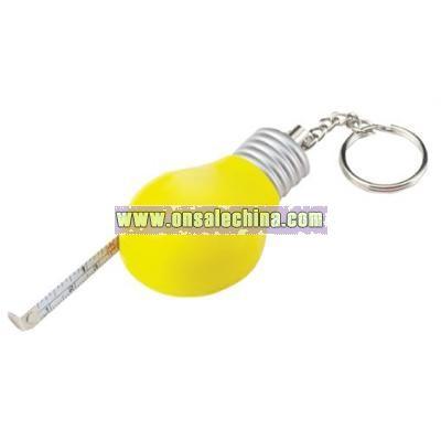 Light Bulb Tape Measure Keychain - 3 ft.