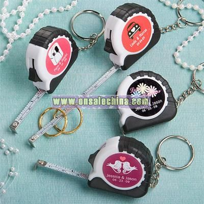 Personalized Key Chain and Measuring Tape Favors