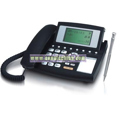 The cellular phone card reads and write the telephone