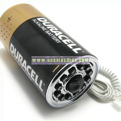 Battery Shaped Telephone