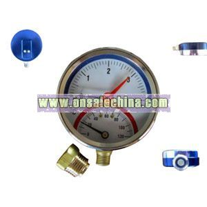 Thermometer with Pressure Gauge