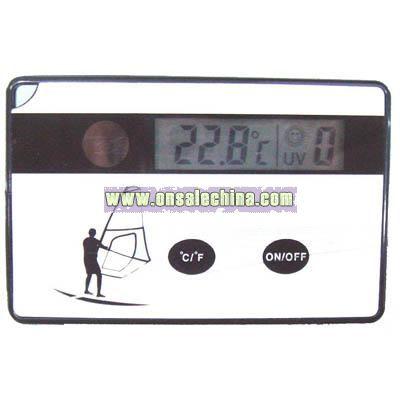 Solar Credit card Temperature Display