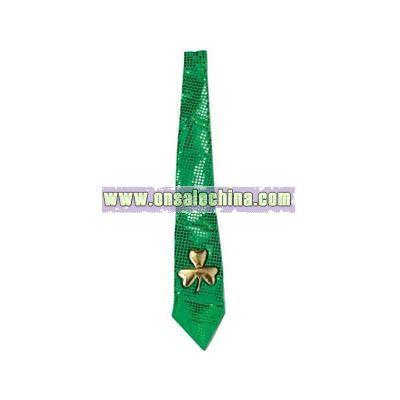 Glitz N Gleam - Jumbo St. Patrick tie with elastics attached.