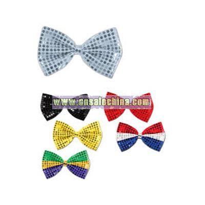 Glitz 'N Gleam - Red bow tie with elastics attached.