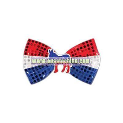 Glitz 'N Gleam - Patriotic bow tie with icon attached.