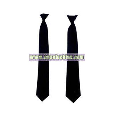 Police issue clip-on necktie