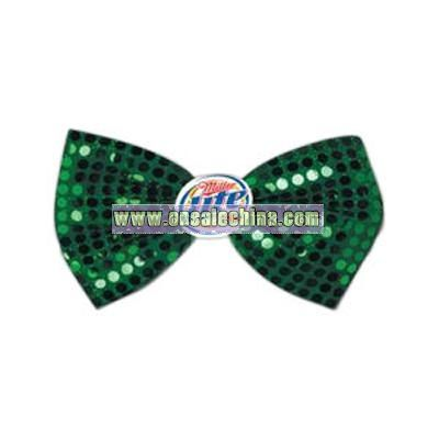Glitz 'N Gleam - St. Patrick's day bow tie with icon attached
