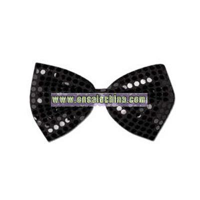 Glitz 'N Gleam - Black bow tie with elastics attached