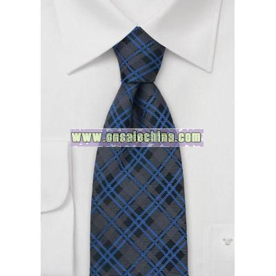 Classic Tartan-Check Pattern Silk