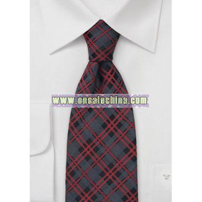 Tartan Check Pattern Designer Tie