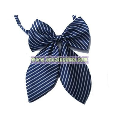 Women's polyester adjustable tulip bow tie with neat pattern