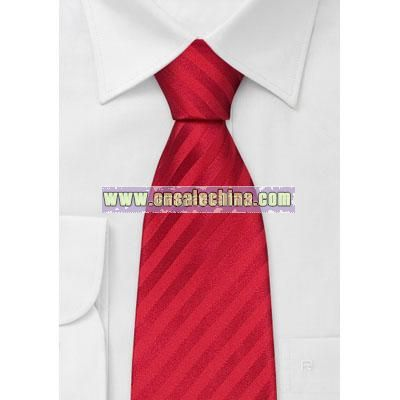 Bright Red Kids Necktie