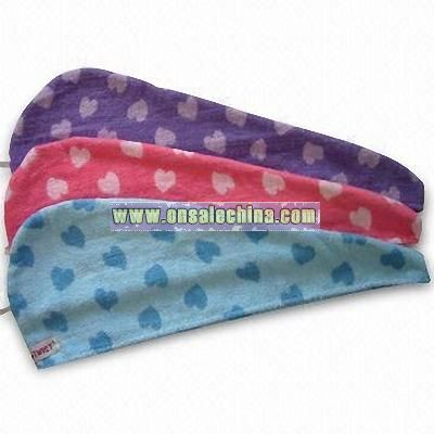 Hair Drying Towel with Reactive Printing