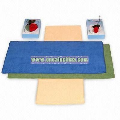 Spa Towel with Velour Finish and Flat Stitched Hem