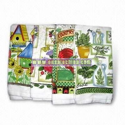 Kitchen Towels with Various Printings