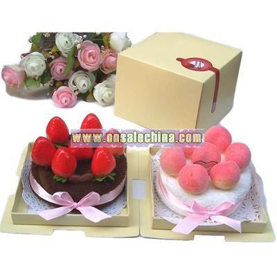 Promotion Gift Fruit Cake Towel
