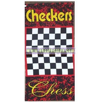 Cotton Checkers Game Towel