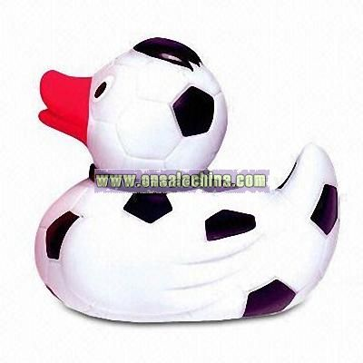 Rubber Flashing Squirt Toy with Sound and Large Logo Space
