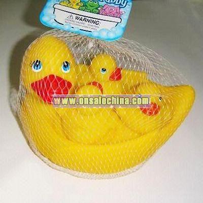 Plastic duck bath set
