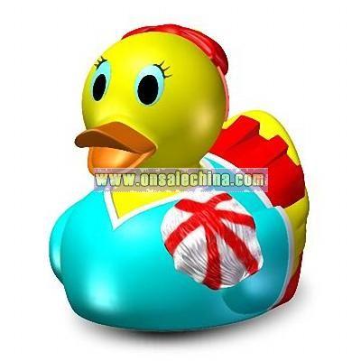 Rubber Cheer Leader Duck