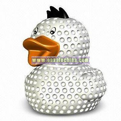 Rubber Golf Ball Caddie Duck Toy