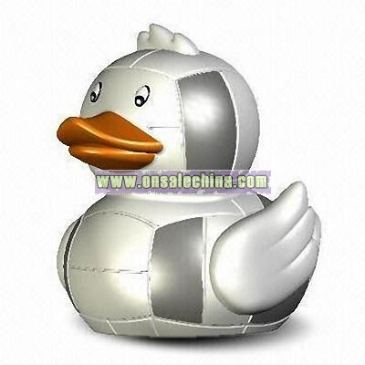 Flashing Rubber Volleyball Duck Toy