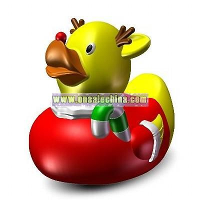 Floating Rubber Reindeer Duck Toys
