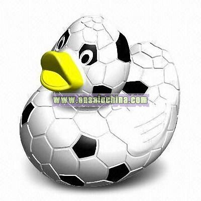 Rubber Soccer Duck Toy