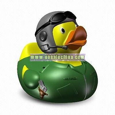 Rubber Air Force Pilot Duck Toys