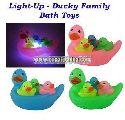 Flashing Light-Up Bath Toys Duck