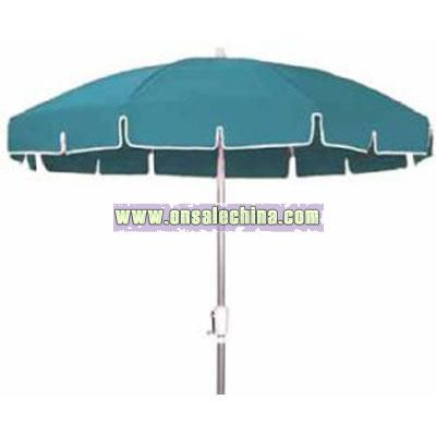 7.5' Octagon Traditional Vinyl Umbrella w/Aluminum Pole and Manual Lift