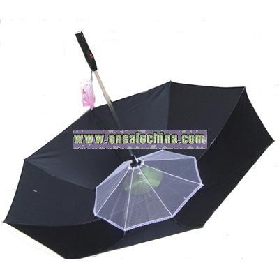Circumvolve Umbrella With Mini Fan