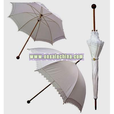 White Lace Parasol by Pasotti Umbrella Lace Wedding Bridal Umbrella