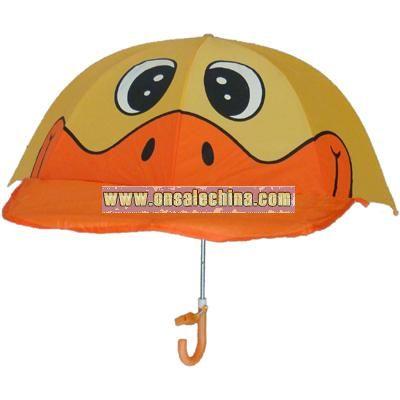 Kids Duck Hat Umbrella