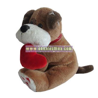 Valentine toys Stuffed Dog