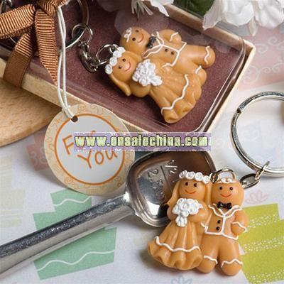 Gingerbread Bride and Groom Key Chain Favors