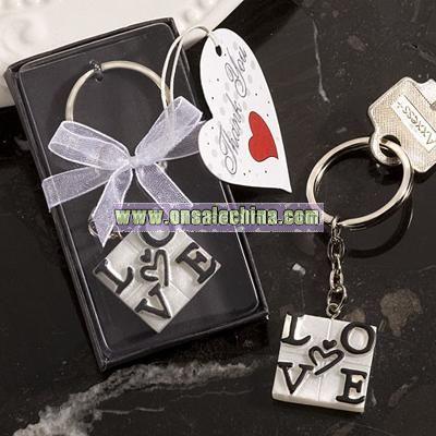 LOVE Design Key Ring Favors